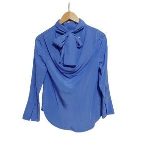 J Crew 100% Silk Blouse Reversible Size 2P